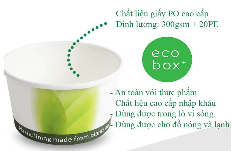 Đặc tính của bát giấy tại Ecobox