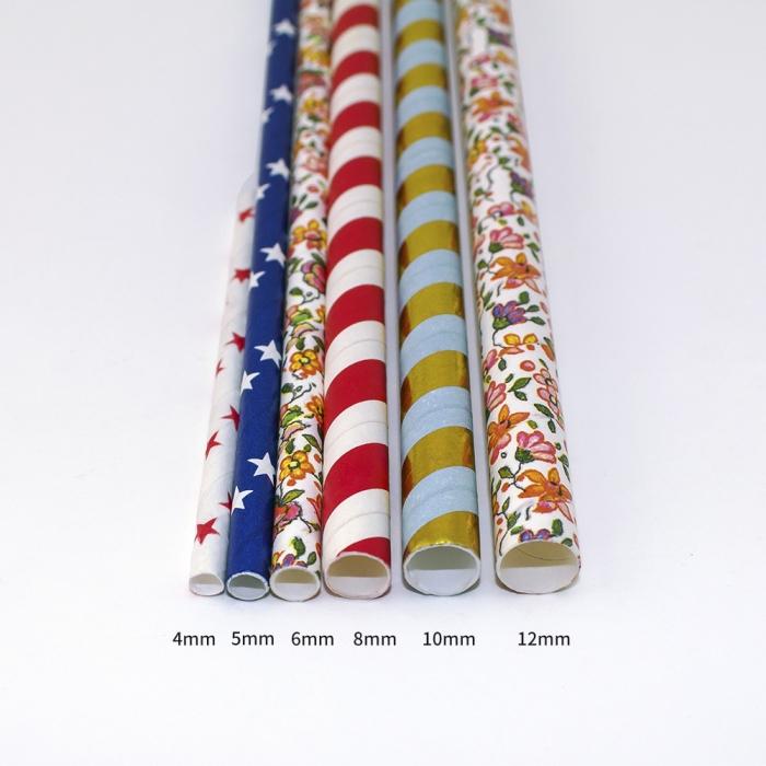 Ống hút giấy nhiều màu sắc khác nhau