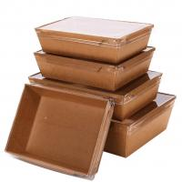 Hộp giấy đựng thức ăn nhanh có nắp PET ECB-02