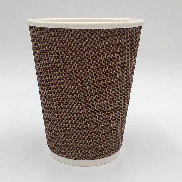 Cốc giấy đựng nước nóng 2 lớp sần